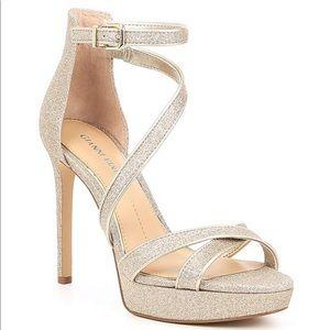 Gianni Bini Glitter Strappy Platform Sandals